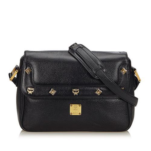 MCM Vintage Leather Charms Crossbody Bag