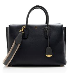 MCM Leather Milla Large Tote