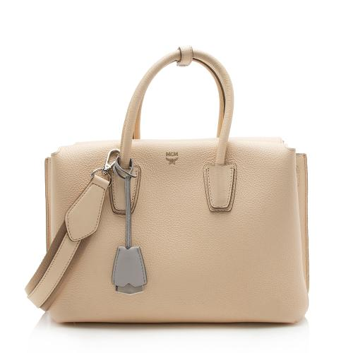 MCM Leather Milla Medium Tote