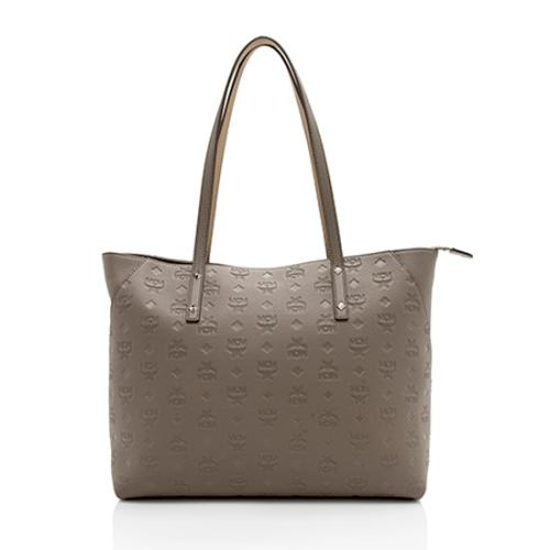 MCM Leather Monogram Medium Klara Top Zip Tote