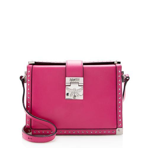 MCM Leather Studded Box Shoulder Bag