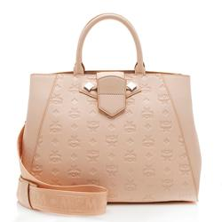 MCM Monogram Leather Essential Medium Tote