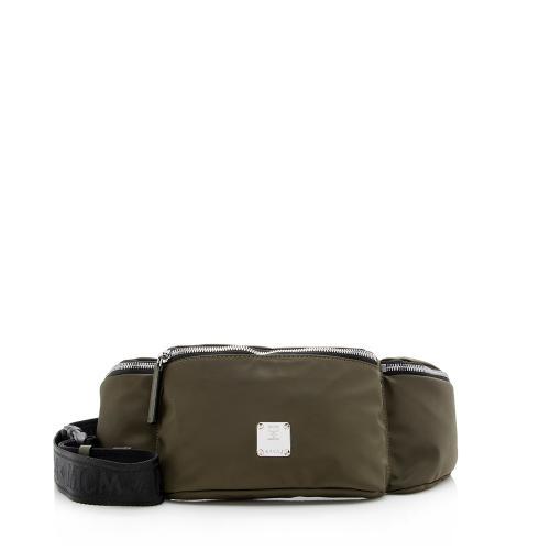 MCM Nylon Jamison Triple Pocket Waist Bag