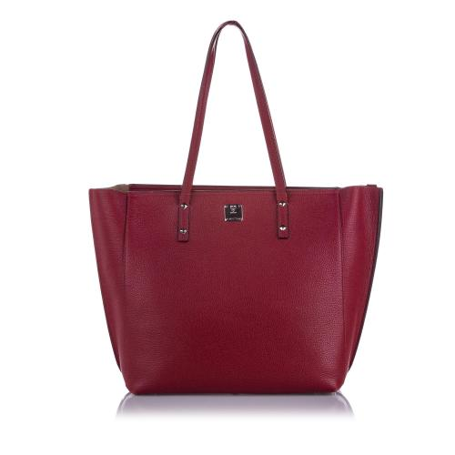 MCM Sophie Leather Shopper Tote Bag