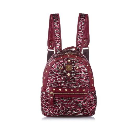 MCM Stark Special Studded Leather Backpack