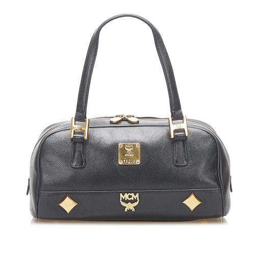 MCM Studded Leather Handbag