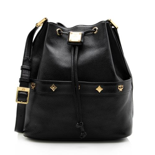 MCM Vintage Leather Bucket Bag