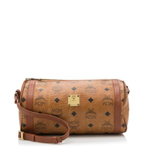 MCM Vintage Visetos Barrel Crossbody Bag