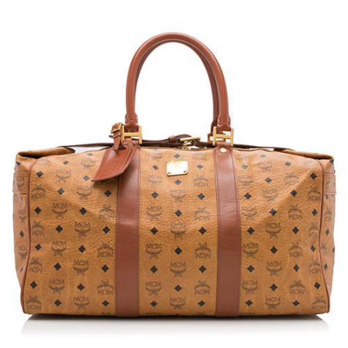 MCM Vintage Visetos Belted Duffle Bag