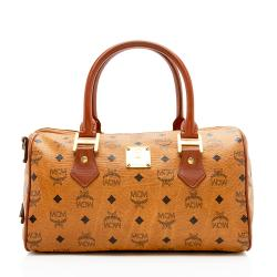 MCM Vintage Visetos Boston Satchel