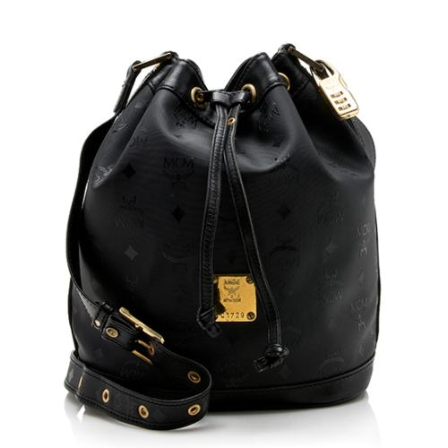 MCM Vintage Visetos Bucket Shoulder Bag