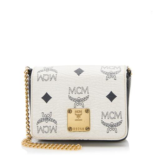 MCM Vintage Visetos Mini Flap Shoulder Bag