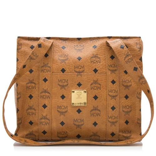 MCM Vintage Visetos Small Shoulder Bag