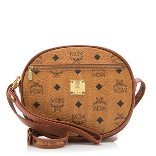 MCM Vintage Visetos Wristlet Crossbody Bag