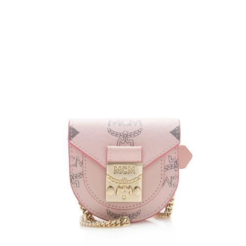 MCM Visetos Chain Mini Bracelet Bag