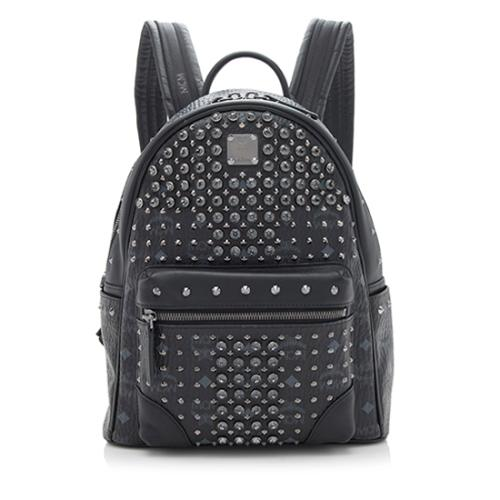 MCM Visetos Crystal Small Backpack