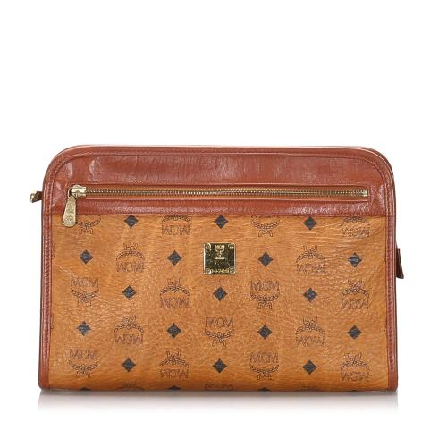 MCM Vintage Visetos Leather Clutch
