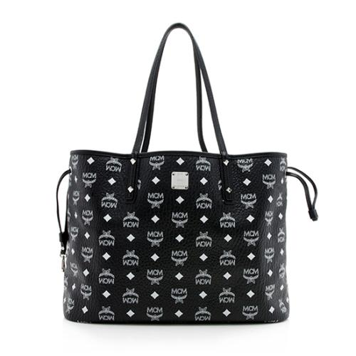 MCM Visetos Liz Reversible Medium Shopper Tote