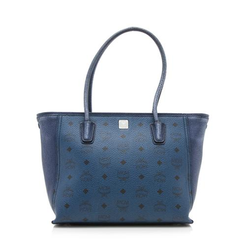 MCM Visetos Medium Shopper Tote