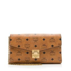 MCM Visetos Millie Flap Crossbody Bag