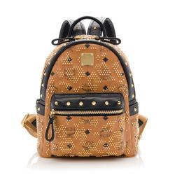 MCM Visetos Mini Studded Backpack