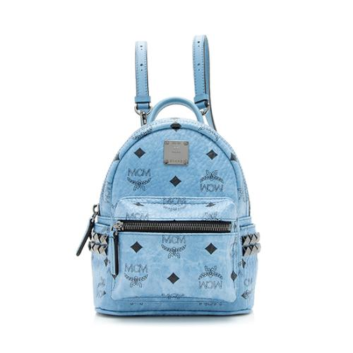 MCM Visetos Studded Stark Baby Backpack