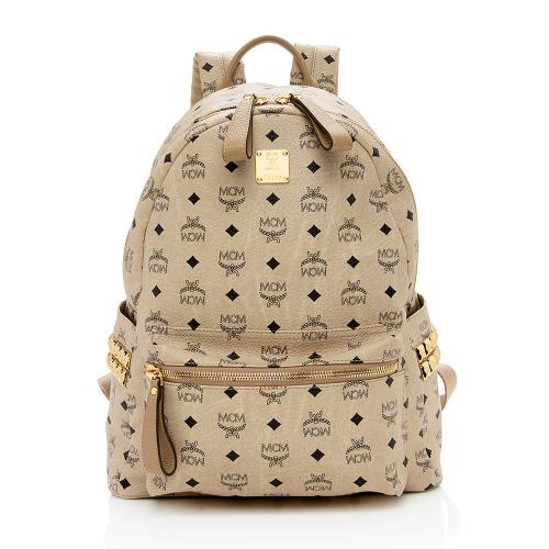 MCM Visetos Studded Stark Medium Backpack
