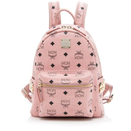 MCM Visetos Studded Stark Mini Backpack