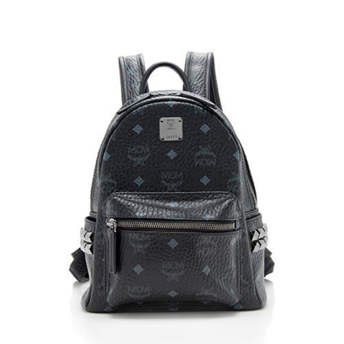 MCM Visetos Studded Stark Mini Backpack