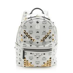 MCM Visetos Studded Stark Small Backpack