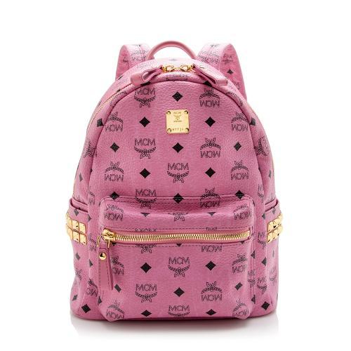 MCM Visetos Studded Stark Small Backpack
