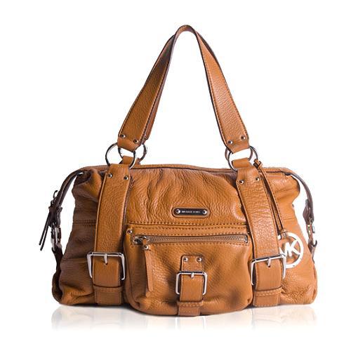 MICHAEL Michael Kors Austin Pebbled Leather Satchel Handbag