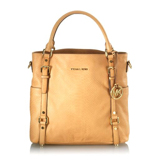08d0416bd9cf MICHAEL Michael Kors 'Bedford' Python Embossed Leather Tote