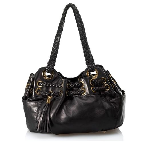 MICHAEL Michael Kors Braided Astor Grommet Large Satchel Handbag