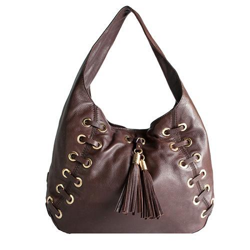 MICHAEL Michael Kors Braided Grommet Large Hobo Handbag