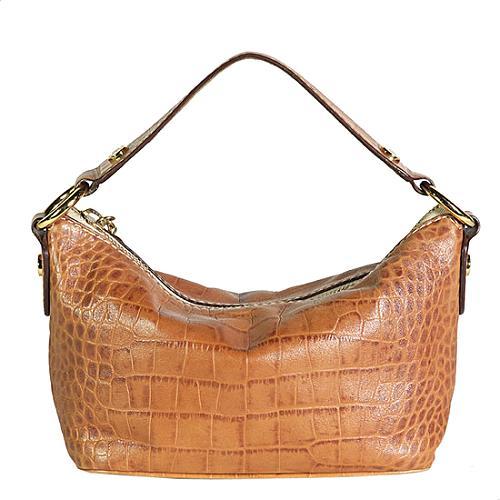 MICHAEL Michael Kors Crocodile Embossed Small Leather Handbag