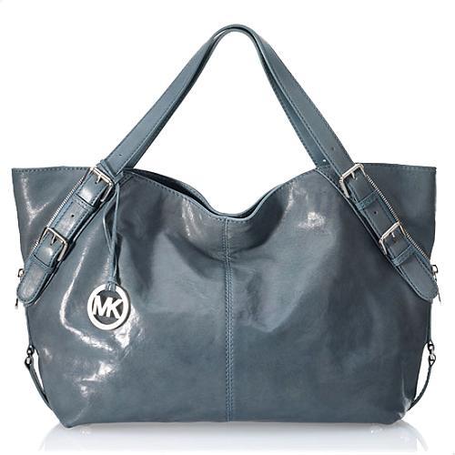MICHAEL Michael Kors Dorchester X-Large Menta Leather/Metallic Tote