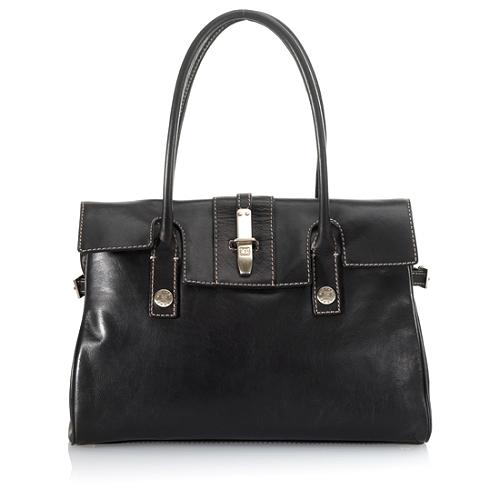 MICHAEL Michael Kors Foldover Leather Tote