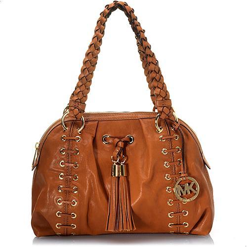 MICHAEL Michael Kors Large Zip Top Astor Grommet Satchel Handbag