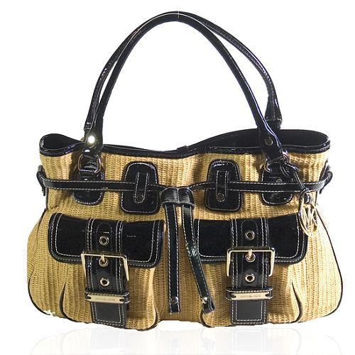 MICHAEL Michael Kors Panama Straw Large Satchel Handbag