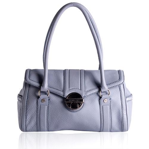 MICHAEL Michael Kors Pebbled Leather Flap Satchel Handbag