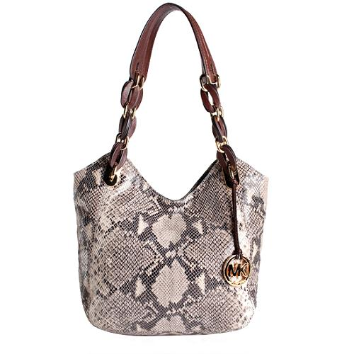 MICHAEL Michael Kors Python Embossed Lilly Tote