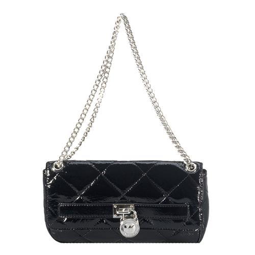 MICHAEL Michael Kors Quilted Patent Hamilton Flap Shoulder Handbag