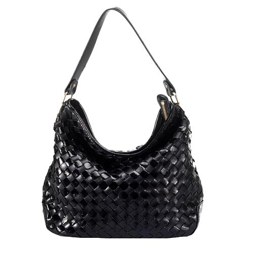 MICHAEL Michael Kors Woven Leather Newbury Large Shoulder Handbag