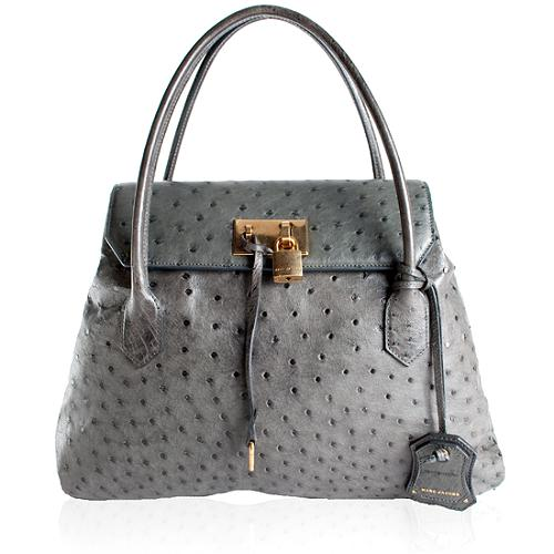 Marc Jacobs Absinthe Ostrich Leather Tote