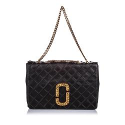 Marc Jacobs Quilted Leather Double J Flap Shoulder Bag