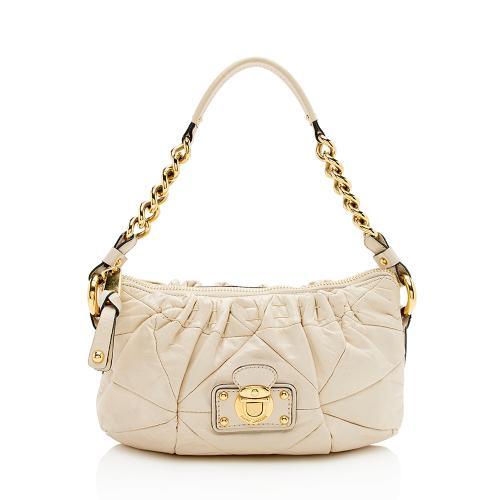 Marc Jacobs Glazed Calfskin Camila Shoulder Bag