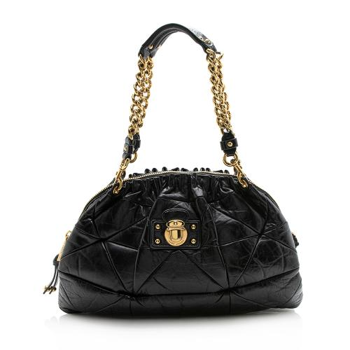 Marc Jacobs Glazed Calfskin Capra Chain Shoulder Bag