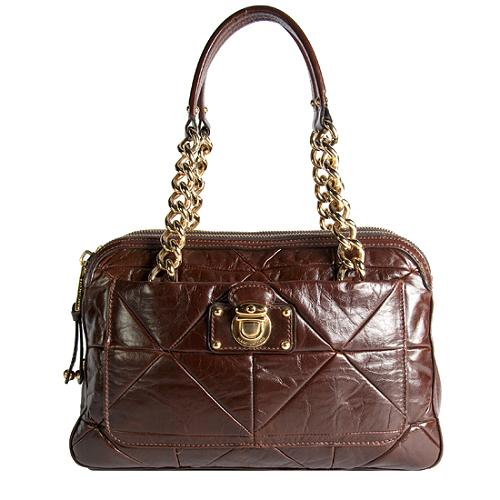 Marc Jacobs Ines Patchwork Leather Satchel Handbag