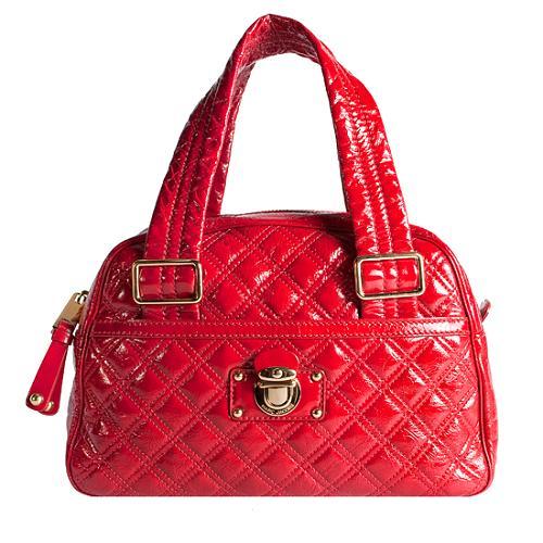 Marc Jacobs Large Quilted Bowler Satchel Handbag